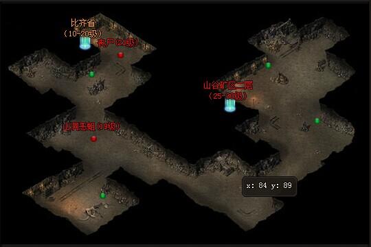 49you魔龙诀-山谷矿区一层地图